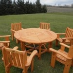 Round Macrocarpa Outdoor Table 1