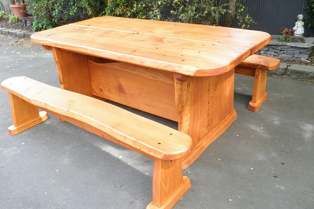 Macrocarpa Table Flinstone Style Eight Seater