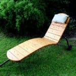 Steel frame sun lounger